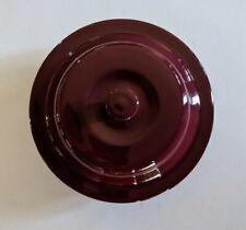 New listing Pampered Chef Cranberry Round Casserole Dish W/Lid 6 C. 1.5L #1154-Euc