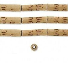 1 Strand Natural Burnt Bamboo Tube Beads / Approximately 13x5mm-19x6mm Tubes