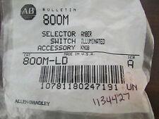 ALLLEN BRADLEY 800M LD Selector Switch Accessory Amber Illuminated Knob
