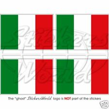 "ITALY Italian Flag ITALIA 50mm (2"") Vinyl Bumper-Helmet Stickers Decals x4"