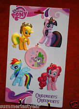 2013 - MY LITTLE PONY - FIVE PIECE CHRISTMAS ORNAMENT SET - AMERICAN GREETINGS