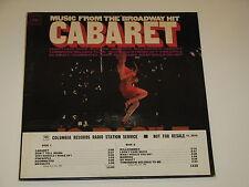 MUSIC FROM THE BROADWAY HIT CABARET Lp RECORD RARE RADIO STATION PROMO JO BASILE