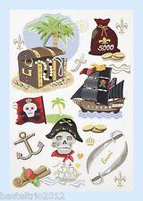 Sticker 3D Pirat Piraten Scrapbooking Einladung Geburtstag Einschulung Grußkarte
