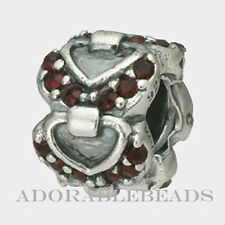 Authentic Chamilia Silver 2011 Limited Edition Connecting Hearts Bead  2025-0675
