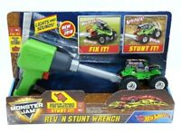 Hot Wheels Monster Jam Rev N Stunt Wrench Grave Digger Light & Sounds Age 3+ NEW