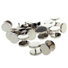 1 Pair Fake Ear Plug Stud Stretcher Flesh Tunnel Earring Surgical Steel Piercing