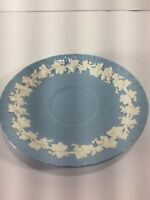Vintage, Wedgwood Queen's Ware, White on Blue, Saucer