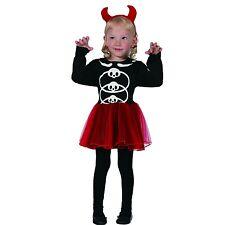 Halloween Toddler Girls Little Red Devil Costume 3-4 Years Book Week Fancy Dress