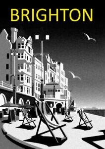 Brighton | Seaside | Vintage Poster | A1, A2, A3