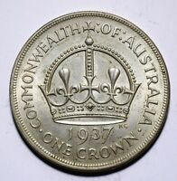 1937 Australia One 1 Crown - George VI Coronation - Lot 896