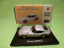ATLAS TOYOTA 2000 GT - METALLIC SILVER GREY 1:43 - EXCELLENT IN BOX