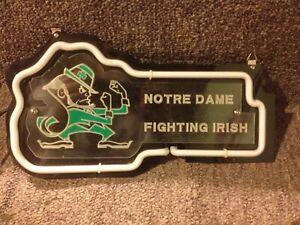 "Notre Dame Fighting Irish Neon Light Sign 12"" x 6"""
