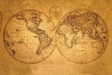 """Old World Atlas style Map poster 24 x 36"""""""