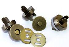Magnetknöpfe-Magnetverschluss 10 Stück, Ø18mm. Farbe: altmessing