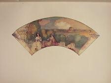 1902 STUDIO PRINT ~ FAN PAINTED ON SILK (BRITISH) ~ FRANK CONDER LADIES