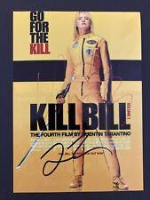 Quentin Tarantino Uma Thurman Signed Kill Bill photo