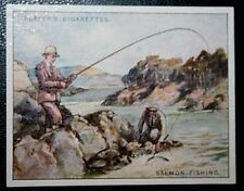 SALMON FISHING    Superb Original Vintage Sporting Card