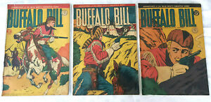 3 Australian Buffalo Bill Western Comics #42, 43 & 44 Horwitz Publications 1954
