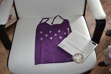 tee shirt lili castagnette neuf mauve avec oursons argentes 4/5 ans