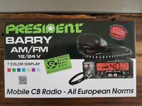 President BARRY AM/FM CB Radio 12/24V
