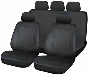 Leatherette Full Set Front & Rear Car Seat Covers for Mitsubishi L200 Pickup