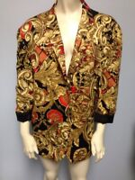 Express Size Xs / 0 100% Rayon Gold Red Black Jacket