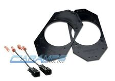"""S/2 4x6 TO 4"""" CAR STEREO SPEAKER MOUNTING ADAPTER PLATES WITH WIRE HARNESS"""