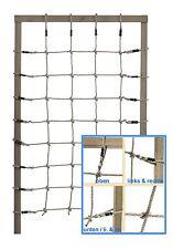 Climbing Net PP 125x200cm Rope Ladder Play Tower Frame