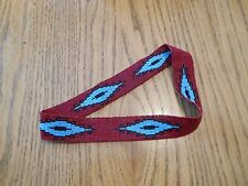 Brick Red SPIRIT EYE Handloomed Beaded Hatband - Mountain Men Reproduction