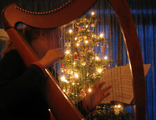 CHRISTMAS CAROLS WITH A CELTIC HARP CD, XMAS HOLIDAY MUSIC, FESTIVE, RELAXING