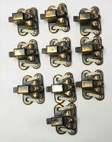 Lot of 9 Vintage Cast Iron Window Sash Locks SAUNDERS