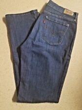 Levi's 505 Womens Size 8  Dark Wash Straight Leg Jeans