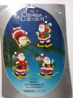 Vintage Felt Ornament Kit By Paragon Needlecraft. Santa Claus
