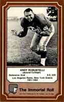 1975 Hall of Fame BROWN #40 Andy Robustelli HOF RARE New York Giants  Arnold Col