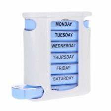 WEEKLY 7 DAY Pill Organiser STACKING TOWER Large 4 Daily Compartments Tablet Box