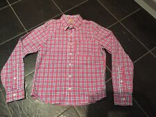 hollister Mens Pink White Blue Check Long Sleeve Shirt Size S
