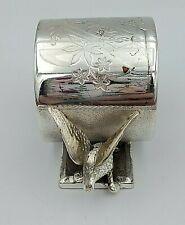 Antique Figural Silverplate Napkin Ring w/ Birds by  Meriden Brittania 11046