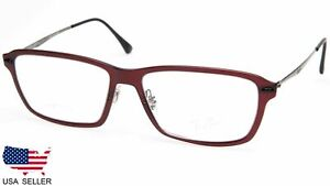 RAY BAN LightRay BURGUNDY Square AUTHENTIC EYEGLASSES RX RB 7038 5456 55-16 135