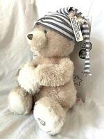 Baby Gund Sleepy Time Bear Animated Sound Striped Hat Teddy Plush Toy