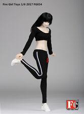 Fire Girl Toys 2017 FG034 1/6 Female Sport Suit Black Cloth GYM Shoes Figure
