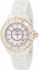 Stuhrling Original 530 114EW3 Womens Leisure Ceramic Glamour Quartz White Watch