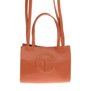 TELFAR Crossbody Tote Bag Embossed Logo Two Strap Magnetic Snap Closure