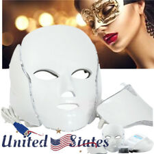 Led Facial Neck Mask Microcurrent Massager Rejuvenation Anti-Age Young Photon Us