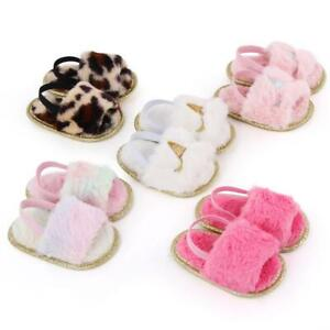 Fur Sneakers Baby Summer Shoes Sandals Soft Fluffy Sole Toddler Newborn Girl Kid