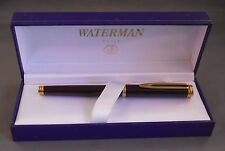 WATERMAN GENTLEMAN BORDEAUX  & 18K GOLD FOUNTAIN PEN MEDIUM PT NEW IN BOX *