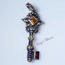 HE Barbara Bixby Key Of Energy Diamond Citrine Pendant Enhancer Sterling 18K