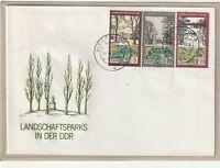 """Ersttagsbrief - """"Landschaftsparks in der DDR"""" mit Marken und Stempel 1981"""