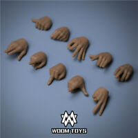 WOOM TOYS 1/6 Male Hand type Hand Gestures 12'' Hottoys Phicen Figure Accessory