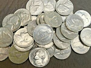 USA Jefferson Nickels-5 Cent Coins 1938-2020 P, D & S mints. Average Circulated