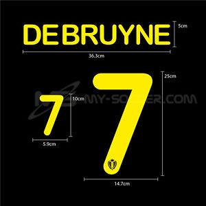 BELGIUM Away World Cup 2014 NAME AND NUMBERING SOCCER FOOTBALL HERO PRINT